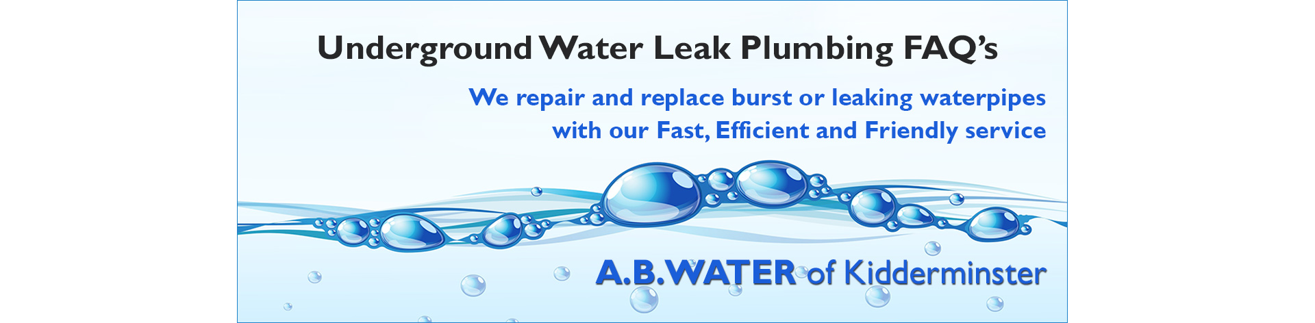 underground-water-leak-plumbing-faqs