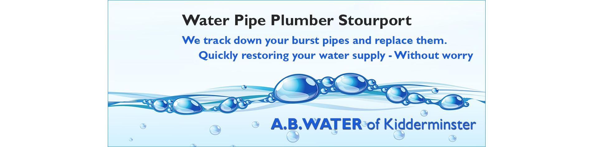 water-leak-plumber-stourport